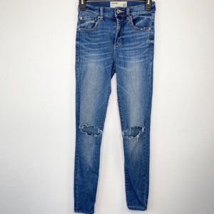 Garage Taille Haute High Rise Distressed Jeans